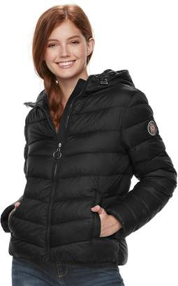 Steve Madden Nyc Juniors' NYC Packable Hooded Jacket