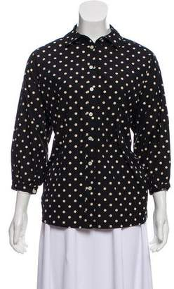 The Great Polka Dot Button-Up Blouse w/ Tags