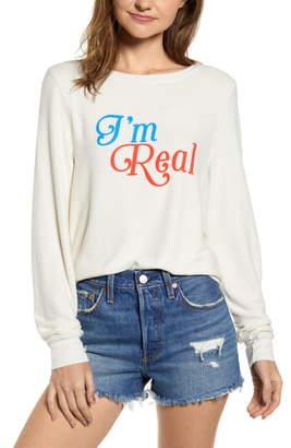 429635cb06 Wildfox Couture I'm Real Baggy Beach Jumper Sweatshirt