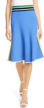 Diane von Furstenberg Stripe Detail Tipped Skirt