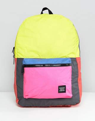 Herschel Packable Reflective Backpack In Color Block