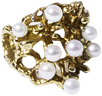Solomeina Golden Pearls Courage Ring