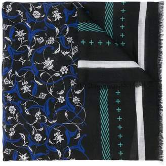 Haider Ackermann floral print scarf