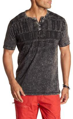 ProjekRaw Projek Raw Short Sleeve Henley Shirt