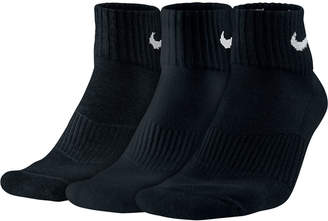 Nike Men's Socks, Cotton Cushion Quarter Extended Size 3-Pack