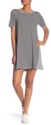 Susina Short Sleeve Striped Knit Dress