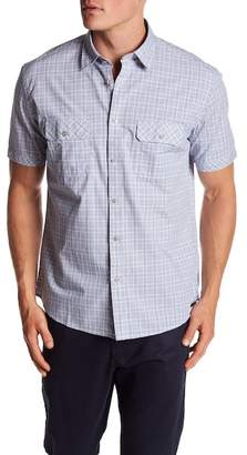 James Campbell Vera Plaid Woven Short Sleeve Shirt