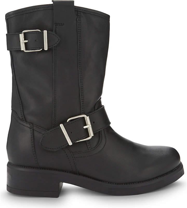Aldo Iana leather biker boots
