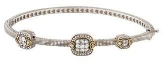 Judith Ripka White Sapphire Station Bangle Bracelet