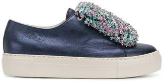 AGL beaded front platform sneakers