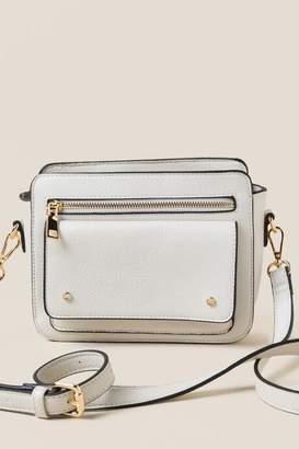 francesca's Lisette Front Pocket Crossbody - Ivory
