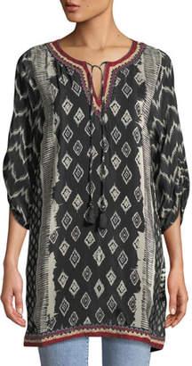 Tolani Journey Ikat-Print Tunic Dress, Plus Size