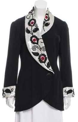 Karl Lagerfeld Embellished Longline Blazer