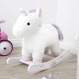 My 1st Years Personalised White Unicorn Rocker