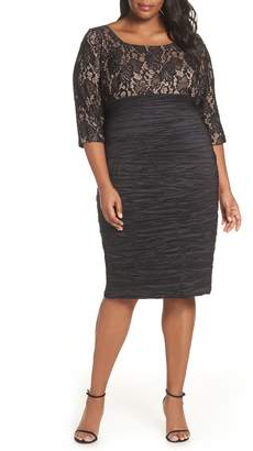 Alex Evenings Lace Empire Waist Sheath Dress
