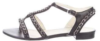 8c60d094475976 Pre-Owned at TheRealReal Chanel 2015 Chain-Link T-Strap Sandals