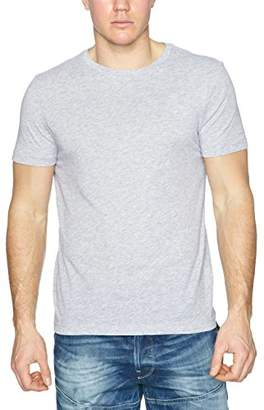 G Star G-Star Men's BS HTR R 2 Short Sleeve T-Shirt, Solid Black