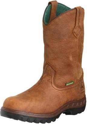 John Deere Mens WCT Waterproof 11 Pull-On Tan Tramper Boot 10.5 EE - Wide