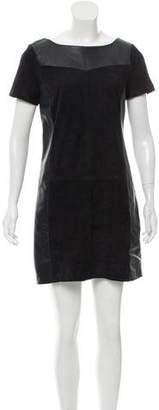Comptoir des Cotonniers Leather Mini Dress