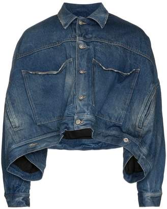 Diesel Red Tag cropped denim jacket