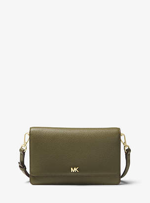 Michael Kors Mercer Pebbled Leather Smartphone Crossbody