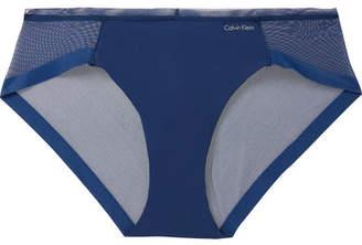 Calvin Klein Underwear Stretch-jersey And Mesh Briefs - Royal blue