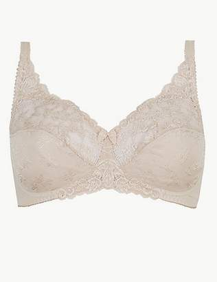 Marks and Spencer Jacquard Lace Non-Padded Full Cup Bra AA-DD