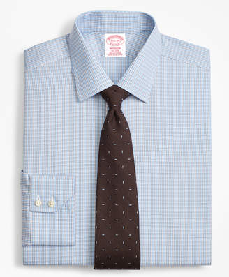 Brooks Brothers Madison Classic-Fit Dress Shirt, Non-Iron Two-Tone Framed Windowpane