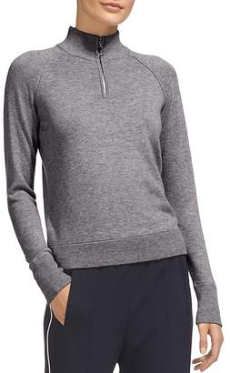 Whistles Zip-Front Wool & Cashmere Pullover