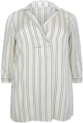 Elena Mirò Striped Tunic Shirt