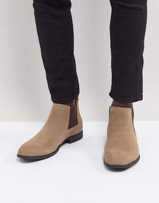 Blend of America Real Suede Chelsea Boots