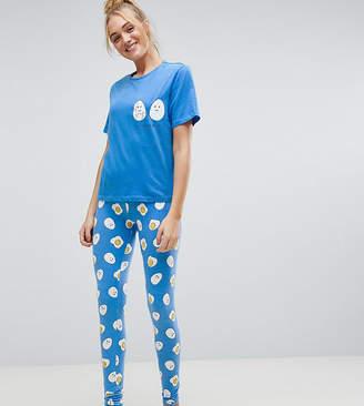 Asos Tall TALL Crack Me Up Tee & Legging Pajama Set
