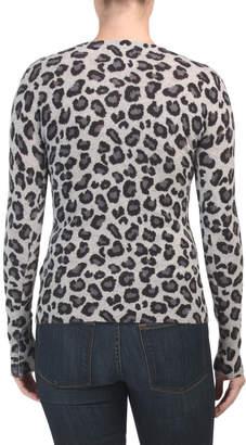 Cashmere Leopard Print Sweater