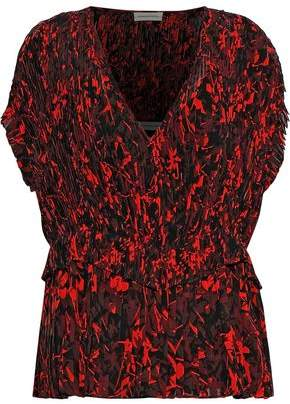 By Malene Birger Orca Pleated Printed Chiffon Top