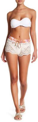 Maaji Bombon Apricot Crochet Shorts