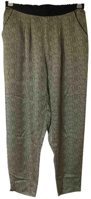 Eres Green Silk Trousers for Women