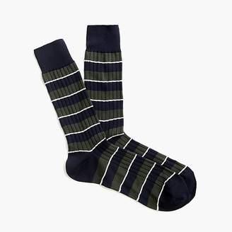 Ribbed dress socks in stripe