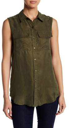 Romeo & Juliet Couture Double Pocket Collared Tank