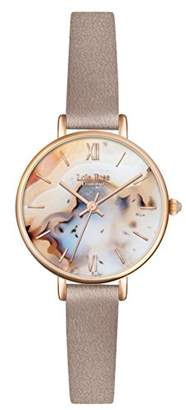 Lola Rose Women's Quartz Watch with Multicolour Dial Analogue Display and Grey Leather Strap LR2044