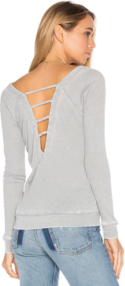Chaser Strappy Double V Raglan Tee $61 thestylecure.com
