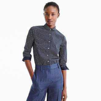J.Crew Petite Perfect shirt in polka dot