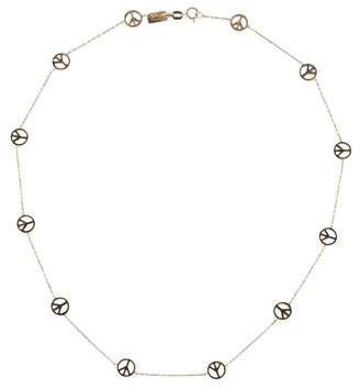 Marnie Rocks 14K Gold Peace Sign Necklace