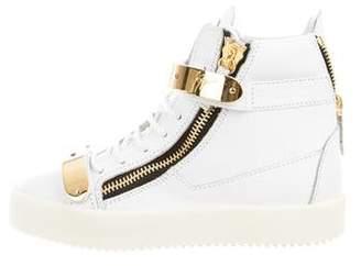 Giuseppe Zanotti May London Leather Sneakers w/ Tags