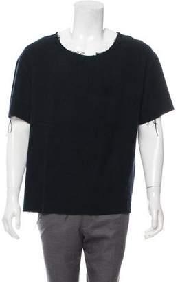 The Elder Statesman Short Sleeve Cashmere Sweater