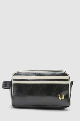 Mens Fred Perry Black Classic Travel Kit Bag
