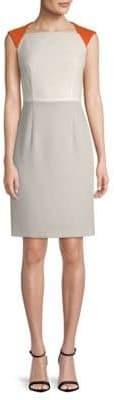 BOSS Dekala Colorblock Crepe Sheath Dress