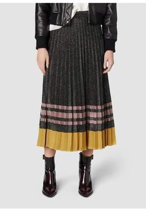 Derek Lam 10 Crosby Pleated Lurex Knit Skirt