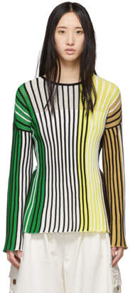 Kenzo Multicolor Vertical Ribs Sweater