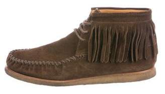 Saint Laurent Fringe Moccasin Boots