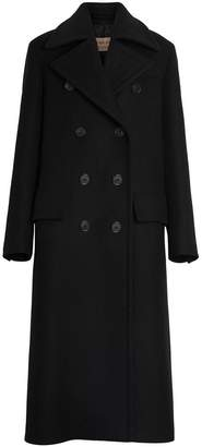 Burberry Double-faced Cashmere Tailored Coat
